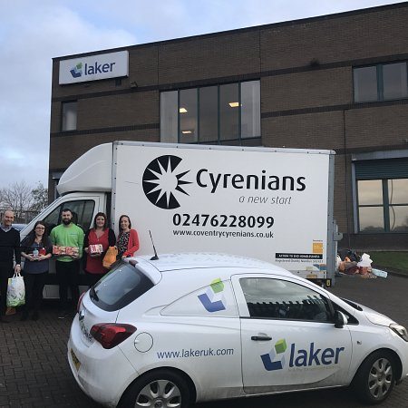 Laker support the Coventry Cyrenians Christmas Appeal